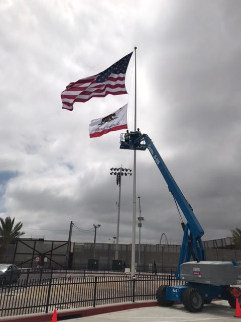 Flag Post For Border Patrol South Bay Fence Co